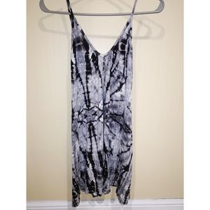 B Jewel Black and White Tie Dye Dress